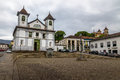 Se Cathedral and Square - Mariana, Minas Gerais, Brazil Royalty Free Stock Photo