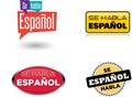 Se Habla Español - & x22;Spanish Is Spoken Here& x22; Royalty Free Stock Photo