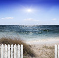 Sea ​​beach and blue Stock Photography