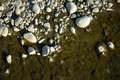 Sea ​​stone shore texture pebble Royalty Free Stock Photo