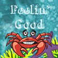 Sea animal with sentiment fun design for children feelin good a lot of and colorful which can be used decor stationary art and Royalty Free Stock Photos