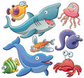 Sea Animals Collection Royalty Free Stock Image