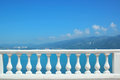 Sea balustrade horizontal view of Royalty Free Stock Photography