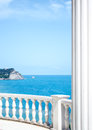 Sea balustrade vertical view of Royalty Free Stock Images