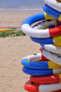 Sea beach holiday life buoy Stock Photography