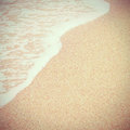 Sea beach with retro filter effect Stock Images