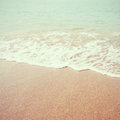 Sea beach with retro filter effect vintage style Royalty Free Stock Photo