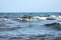 Sea beach water with waves Royalty Free Stock Photo