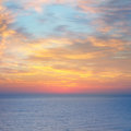 Sea beautiful sunset above the Stock Photography
