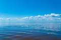 Sea and blue sky with clouds Royalty Free Stock Photo