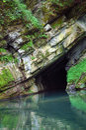 Sea cave entrance Royalty Free Stock Photo