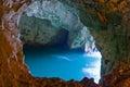 Sea cave a at rosh hanikra israel Royalty Free Stock Photography