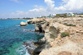 Sea caves ayia napa cyprus Royalty Free Stock Photography