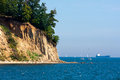 Sea cliff steep coast in gdynia orlowo poland Stock Photos