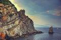 Sea Cliffs At Sunset. Crimea L...