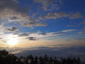 Sea of clouds and the mt fuji ​​clouds view from photo place at amari in early morning Royalty Free Stock Photo
