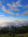 Sea of clouds and the mt fuji ​​clouds view from photo place at amari in early morning Royalty Free Stock Photos