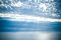 Sea and clouds sky beautiful Royalty Free Stock Photos
