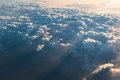 Sea of clouds with sunbeam in the morning photo Royalty Free Stock Photography