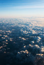 Sea of clouds with sunbeam in the morning photo Royalty Free Stock Photo