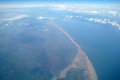 Sea coast of the aerial. Royalty Free Stock Images
