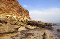 Sea coast in the ebb and cliffs spain during Stock Photo