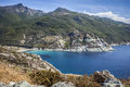 Sea of corsica a view the beautiful cap corse france Royalty Free Stock Photos