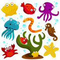 Sea creatures Stock Image