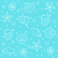 Sea creatures seamless pattern Royalty Free Stock Photo