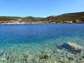 Sea in croatia a limpid on the shore of island of vis issa near the town of vis Royalty Free Stock Image