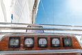 Sea cruise boat navigation devices on yacht Stock Photo