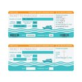 Sea cruise ship boarding pass or ticket template Royalty Free Stock Photo