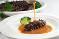 Sea cucumber from china dalian artificial breeding only china chef will cook Stock Photo