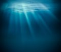 Sea deep or ocean underwater Royalty Free Stock Photo