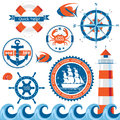 Sea emblems Royalty Free Stock Images