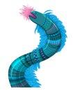 Sea fantastic animal serpent or ocean dragon Stock Photos