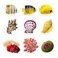 Sea Fauna Icons