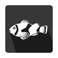 Sea fish emblem icon