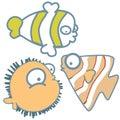 Sea fishes- cute graphic icon cartoon