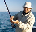 Sea fishing. Stock Photos