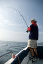 Sea fishing. Royalty Free Stock Image
