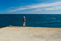 Sea fishing as a typical hobby for retired men Royalty Free Stock Photos