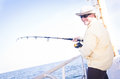 Sea Fishing- Happy Man Stock Photos