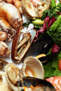 Sea food dish Royalty Free Stock Photo