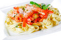 Sea food pasta Royalty Free Stock Image