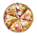 Sea food pizza Royalty Free Stock Images