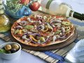 Sea food pizza italian style with and vegetables Royalty Free Stock Photos