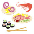 Sea food set Stock Image