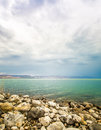The sea of galilee landscape on a summer day Royalty Free Stock Photography