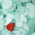 Sea glass background Stock Photo